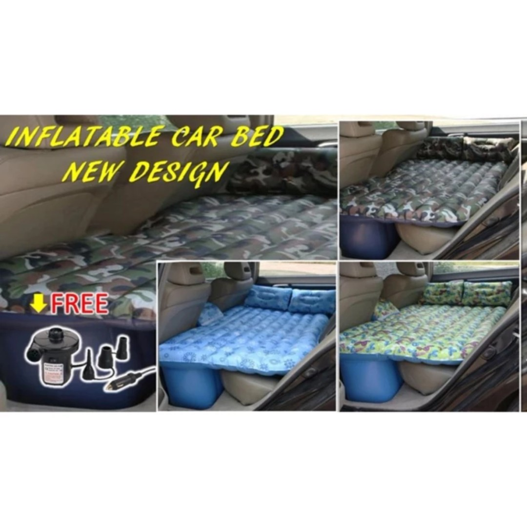 Car Inflatable Mattress Bed Air Bed Mattress + 2 Pillows + 12V Air Pump (Myvi, Saga, Waja, Persona, Exora, Alza, Bezza, City, Civic, Accord, Jazz, Vios, Camry, Altis, Vellfire, Livina, Sylphy, Latio etc)