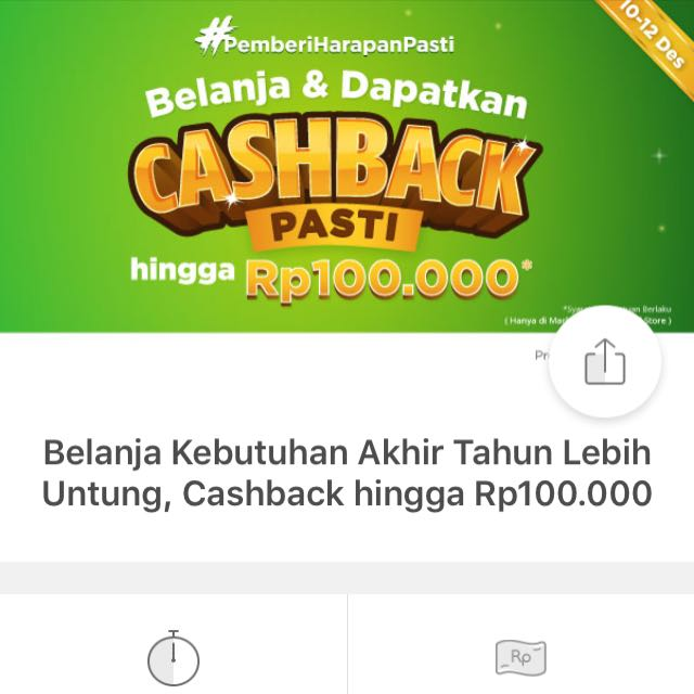 Cashback 100.000 via Tokopedia Belanja Min 500.000
