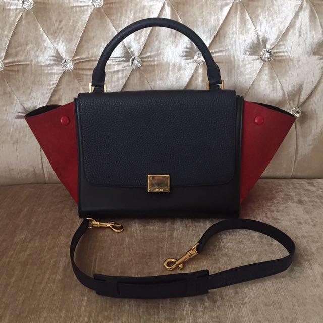 Celine Tri-Colour Trapeze Bag