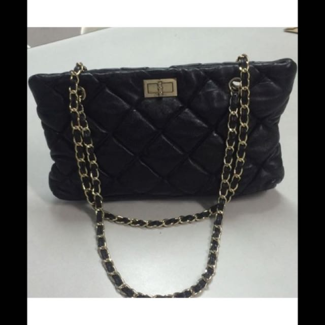 Chanel quilted chain straps