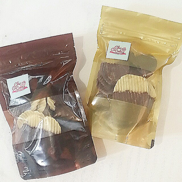 Chocolate coated chips (dark & milk flavor)