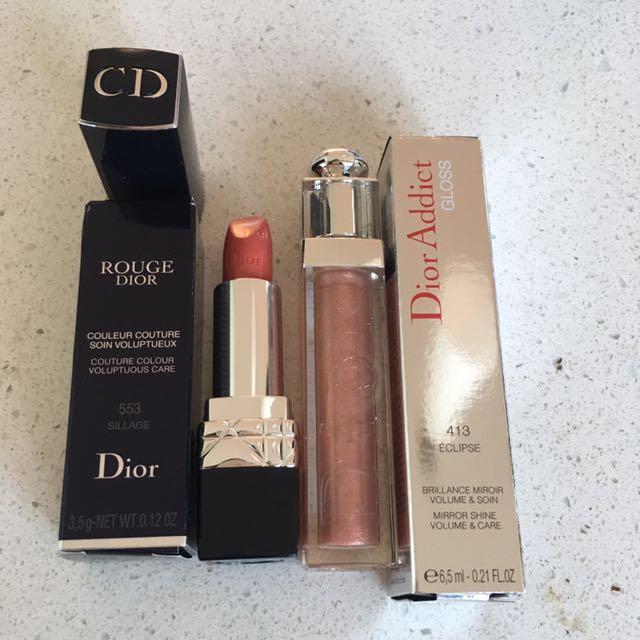 Christian Dior Lipstick553 and gloss413