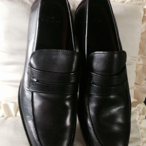 Coach Leather Black Shoes