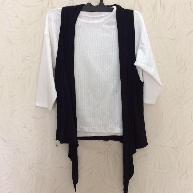 Connexion Shirt Putih (L) & Cool Teen Rompi (L)