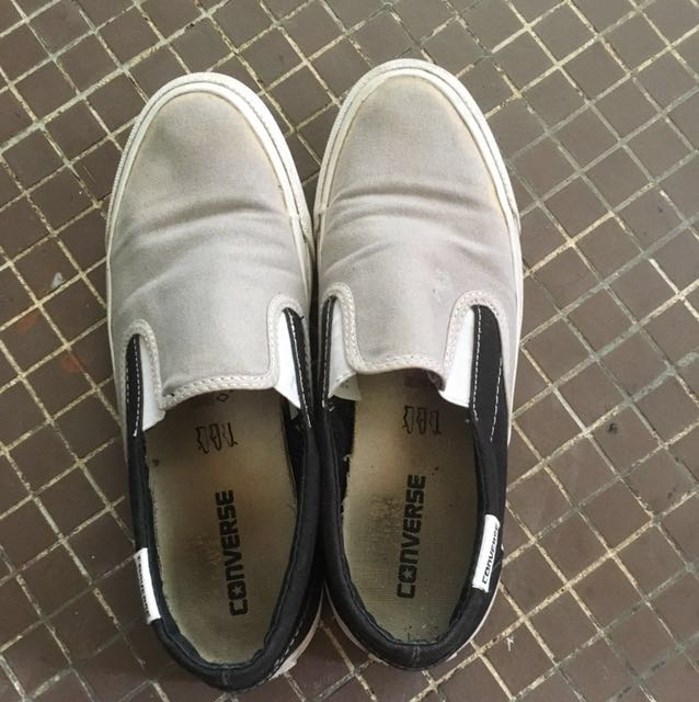99a6c989f206 Converse grey laceless shoes, Men's Fashion, Footwear on Carousell