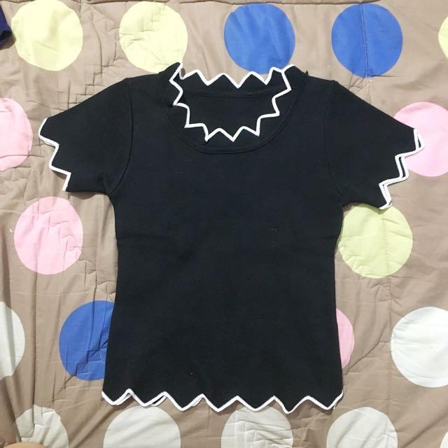 Crop top knit black
