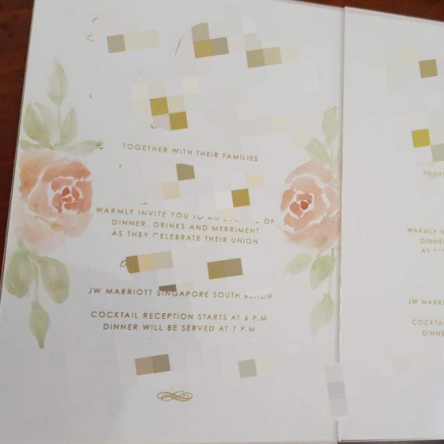 Handpainted wedding invites / lettering