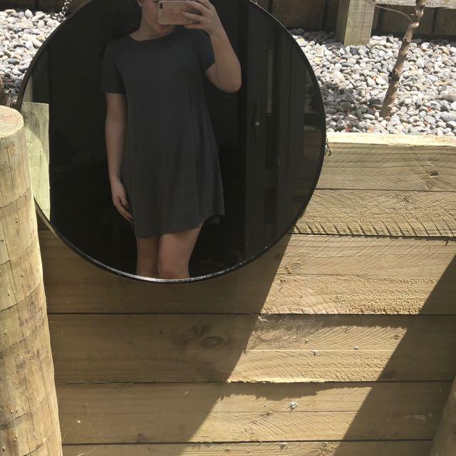cute n comfy grey dress