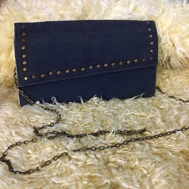 Denim sling bag *pre loved from japan*