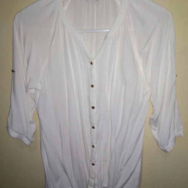 details white blouse ( kemeja wanita)