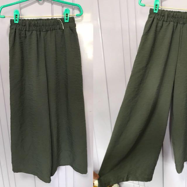 80e209c6aa4f Dirty Green Culottes