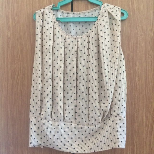 Dotted cream blouse
