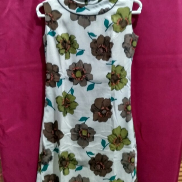 Dress Bunga, Flowery Dress, Flower Dress, Vintage Dress