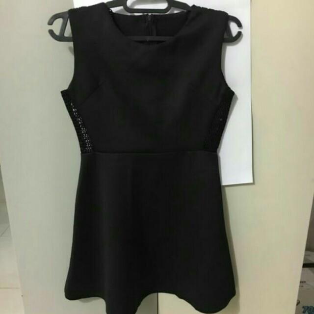 DRESS HITAM JARING / SEXY DRESS / DRESS PESTA