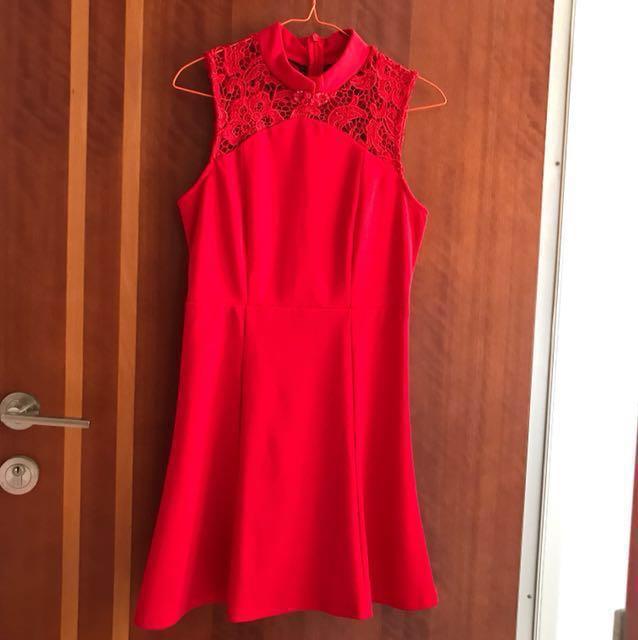 Dress kerah Sanghai