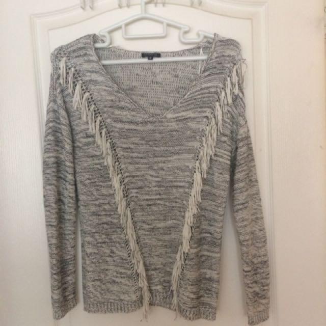 Dynamite Fringe Sweater S
