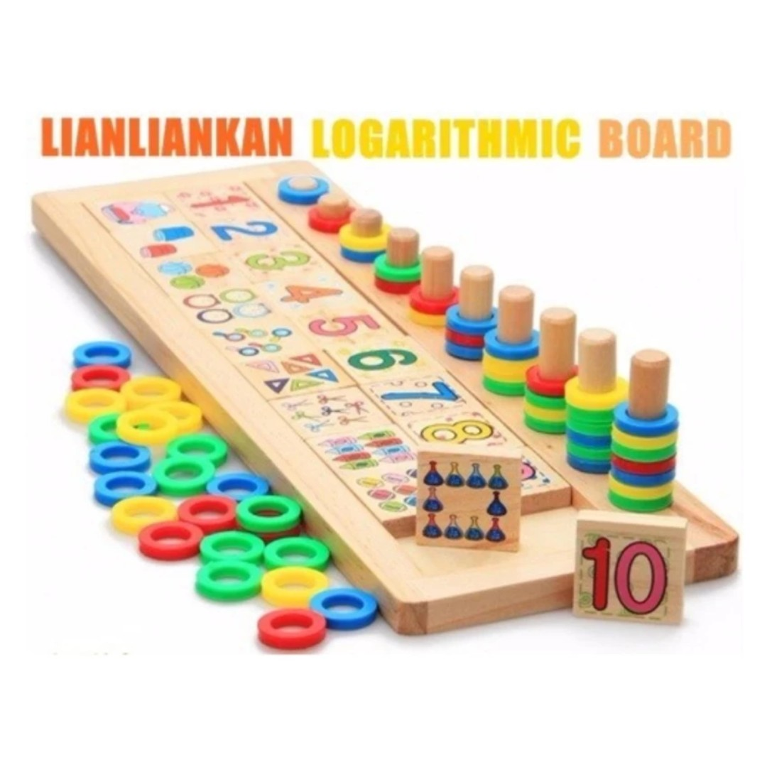 Early Learning Educatinal Wooden Toys Teaching Logarithmic Board
