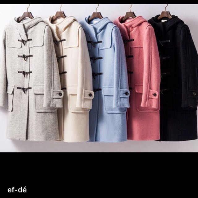 EF-de 日本原裝進口 大衣 9.99成新(黑色)降⋯