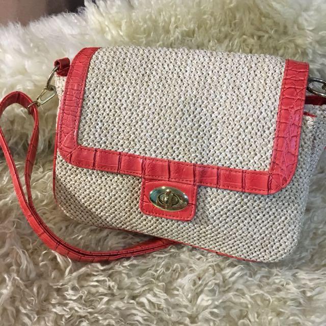 Elegant sling bag *pre loved from japan*
