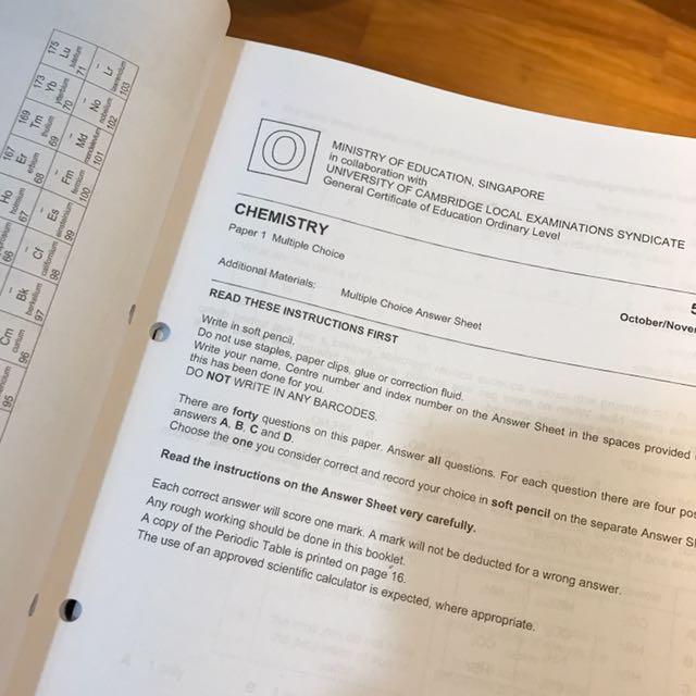 Eph o level chemistry tys ten years series yearly examination eph o level chemistry tys ten years series yearly examination questions books stationery textbooks on carousell urtaz Images