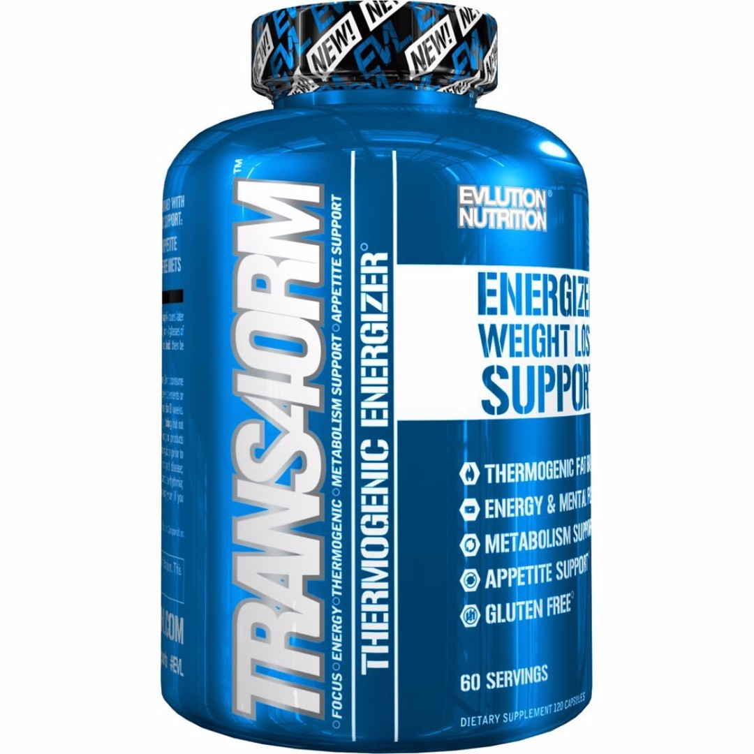 EVL Trans4orm Thermogenic Energizer 60 Servings 120 capsules