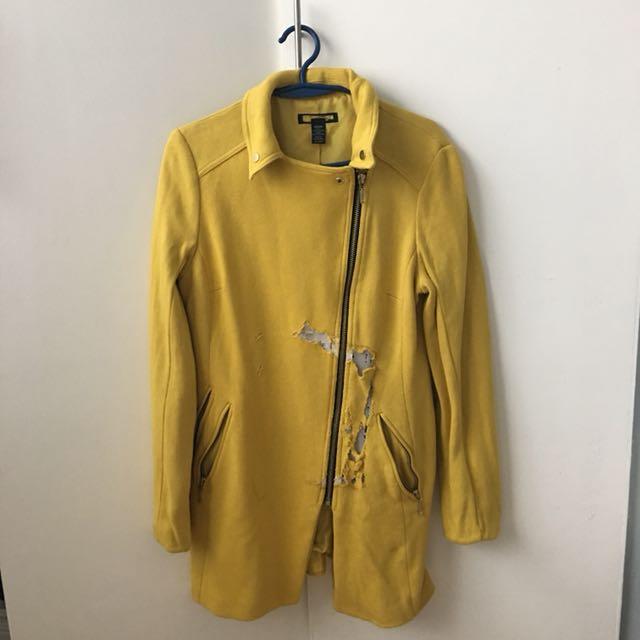F21 yellow coat