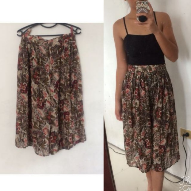 Floral skirt cullotes