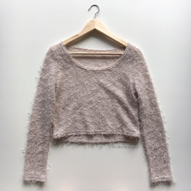 Fluffy Long Sleeved Top