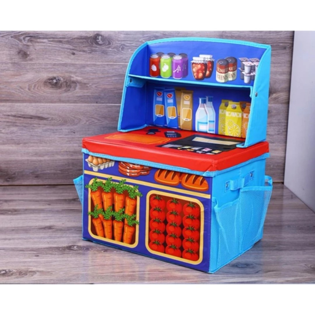 Foldable Storage Box Kitchen Playset Design