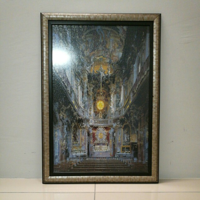framed puzzle art vintage catholic church home furniture home