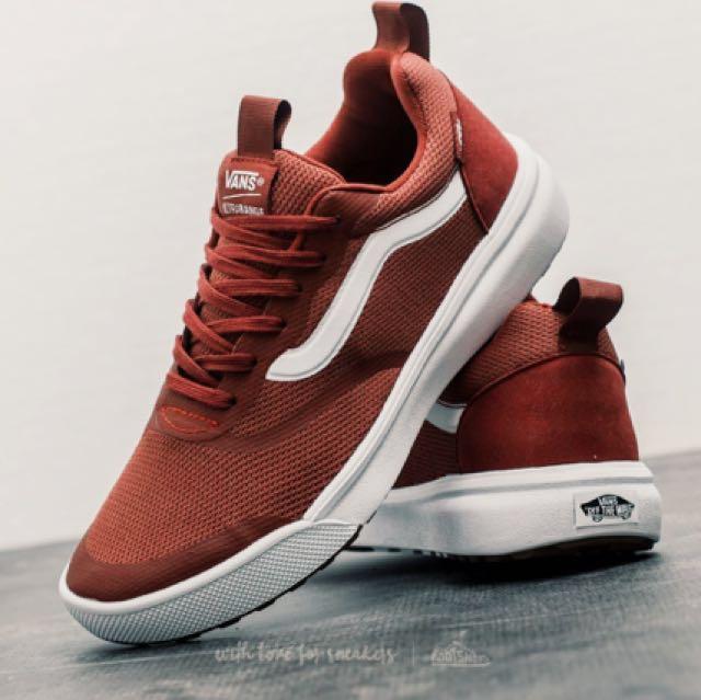 *free postage* vans ultra range athletic skate shoe in madder brown. men's size 7, wowen's size 8.5-9