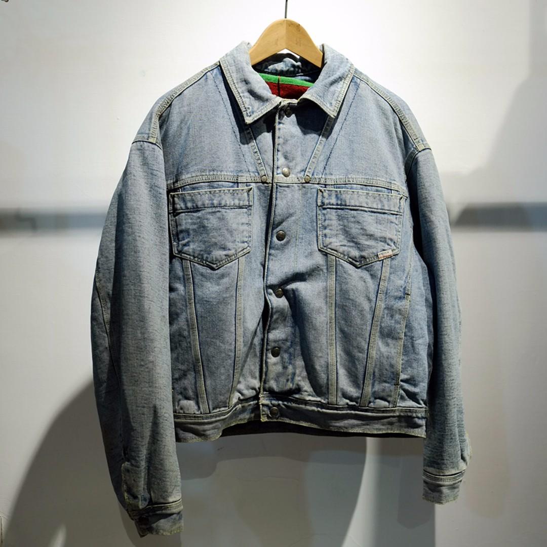 Fresh Loots / 古著 義大利 Benetton 90's 落肩 牛仔外套 Vintage