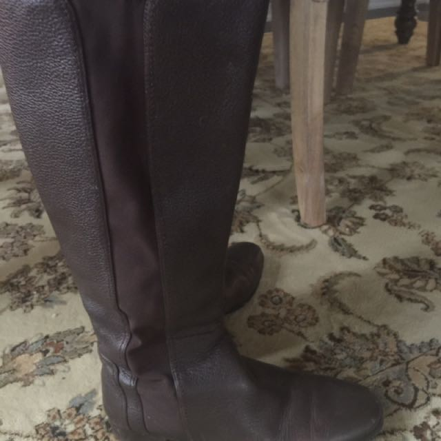 Genuine leather Riding Type Boots (6-6.5)