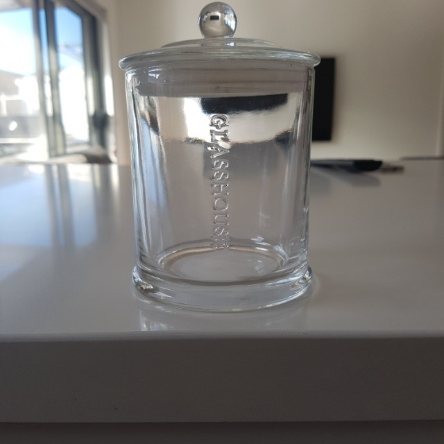 Glasshouse candle jar