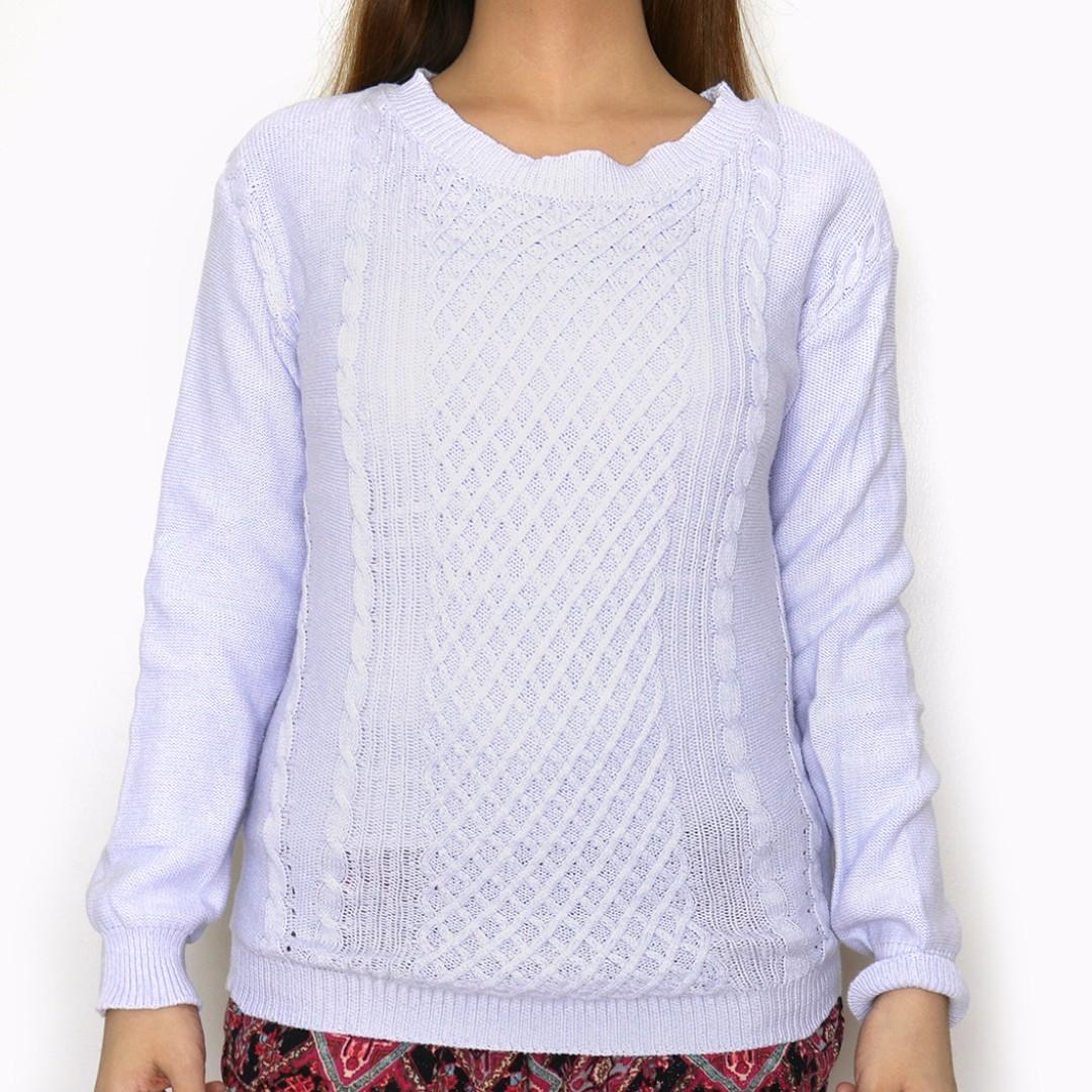 GTW Urban Purple Knit Longsleeves Pullover Sweater Top