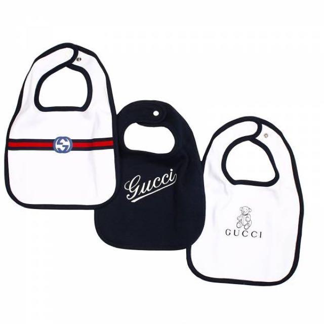 9bbad94d71564 Gucci Baby three-piece bib gift set