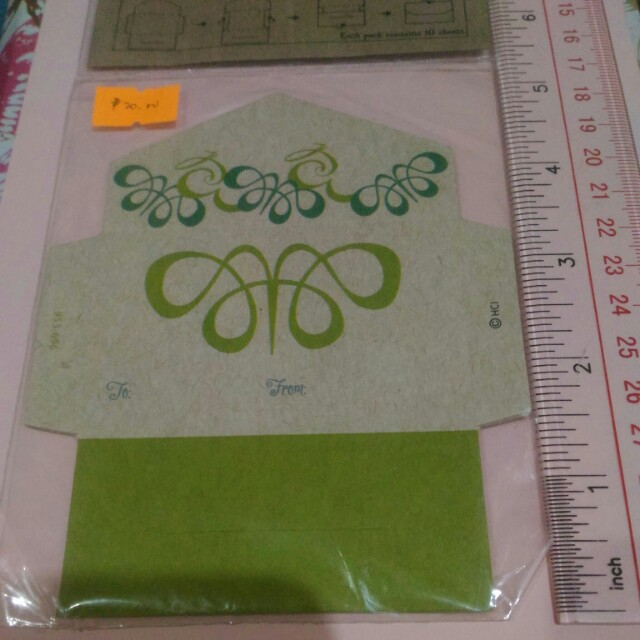 Hallmark Mini Notes Envelope (Green)