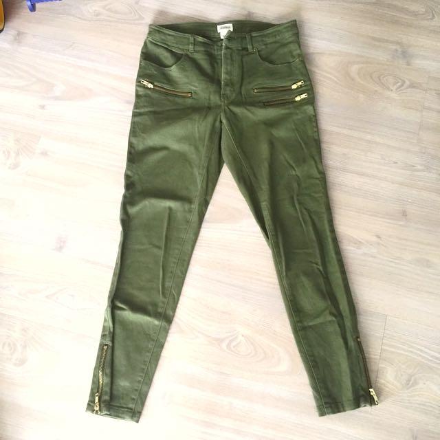 H&m conscious army slim pants