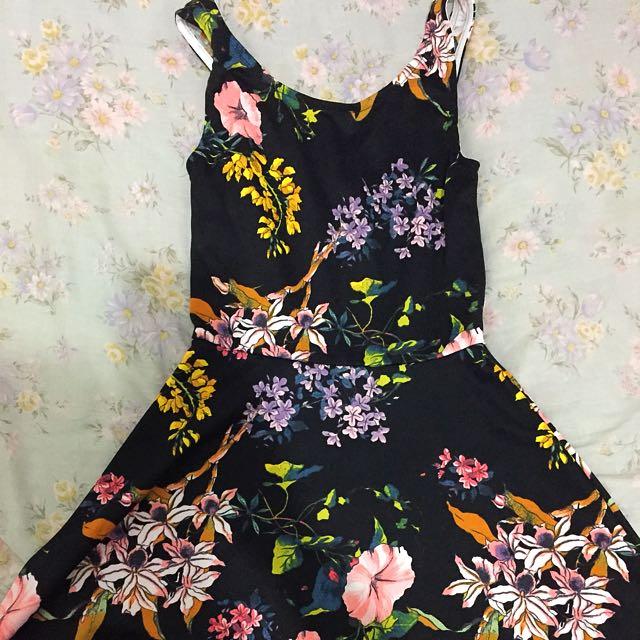 H&M floral dress XS-S
