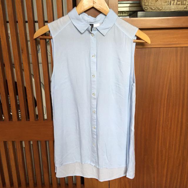 H&M Striped Sleeveless Polo