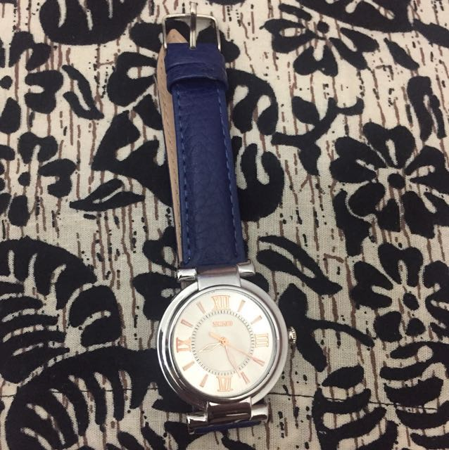 Jam Tangan SKMEI blue leather strap