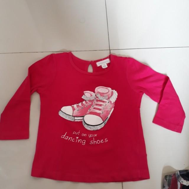 Kaos lg panjang shocking pink