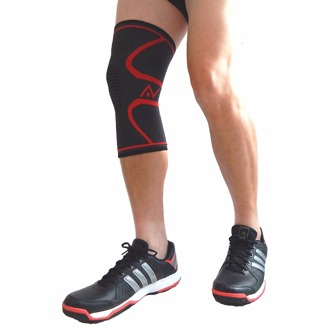 Knee Compression Sleeve (Single) - Best Athletic Knee Compression Brace for  All Sports - ACL, Meniscus Tear and Injury Recovery - Single Wrap for