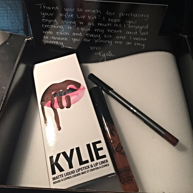KYLIE Lip Kit - TRUE BROWN K Brand New In Box KYLIE JENNER