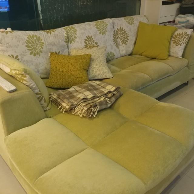 L型、 布沙發。搬家出清