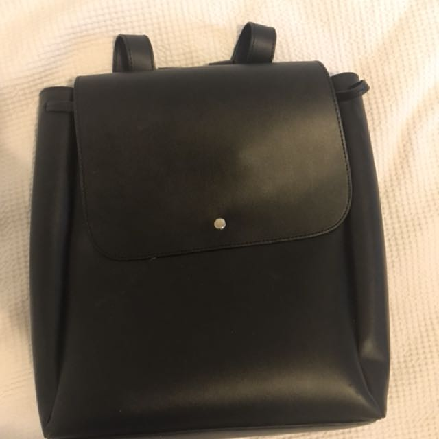 Leather-look backpack