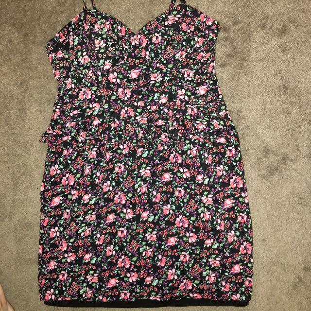 Lolita patterned dress worn once