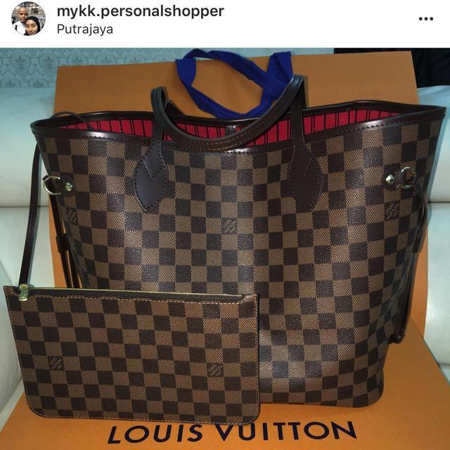 707587599a99 Louis Vuitton Neverfull MM Damier Ebene Canvas