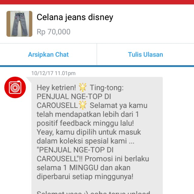 Many thanks carousell