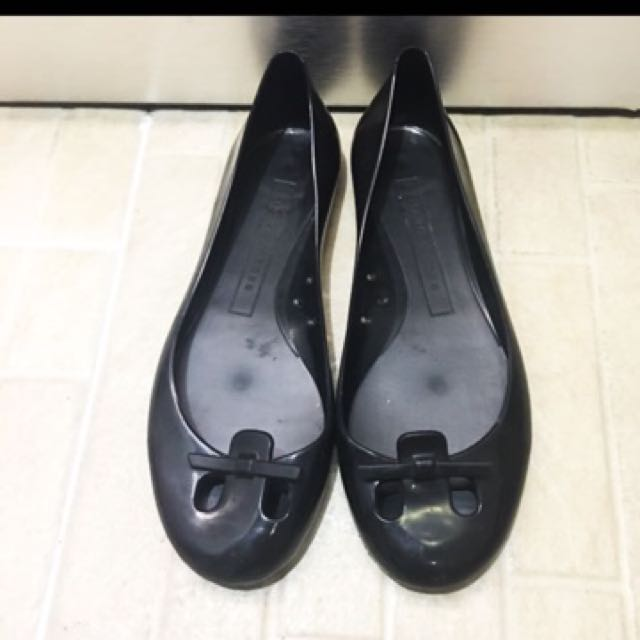 Marc jacobs jelly flat shoes black